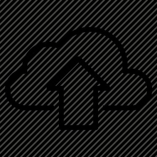 cloud, computing, data, storage, upload icon