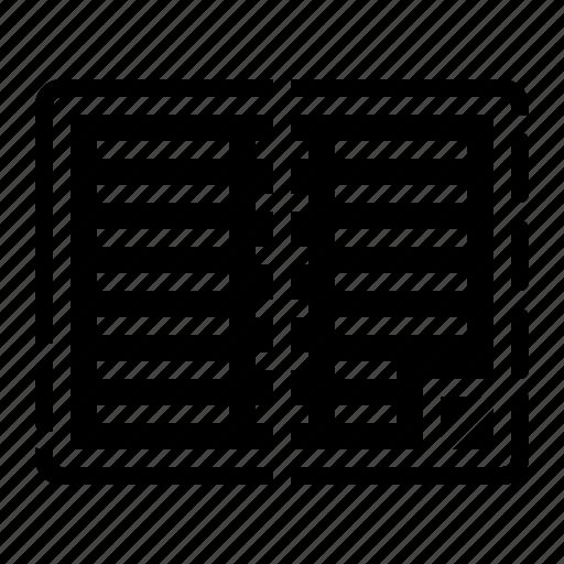 address, book, note, organizer icon