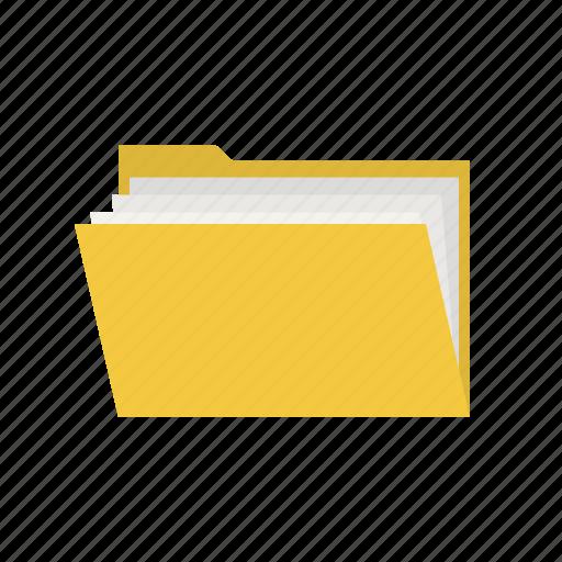 archive, brief, directory, document, file, folder, portfolio icon