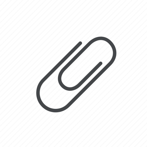 attach, attachment, clip, office, paper, paperclip, stationery icon