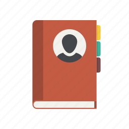 address book, book, contact list, contacts, list, notebook, phone book icon