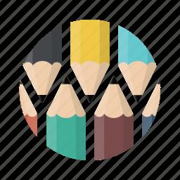 draw, edit, editor, graphic, pencils, write, writing icon