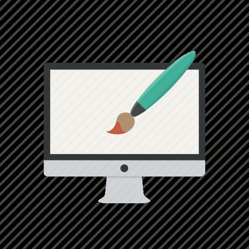 computer, design, graphic, graphics, paint, web designer, web graphic icon