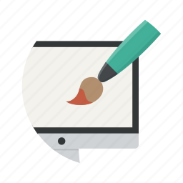 computer, creative, design, designer, graphic, graphics, paint icon