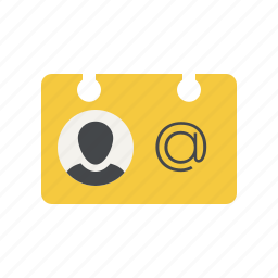 business card, contact, id, id card, member, membership, person icon