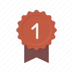 achievement, award, badge, best, first, medal, ribbon icon