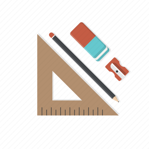 art, blueprints, build, design, layout, pencil, sharpner icon