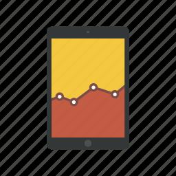 analysis, analytics, diagram, graph, ipad, report, statistics icon