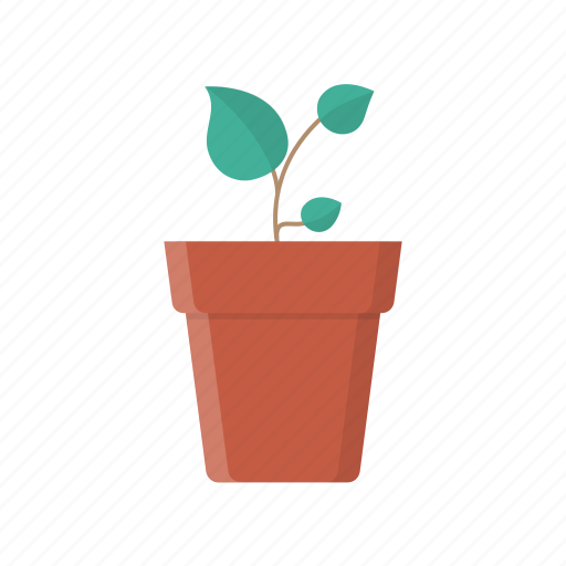 eco, flower, grow, leaves, plant, pot, tree icon