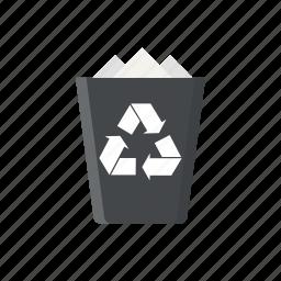 bin, delete, recycle, recycle bin, trash, trash bin icon