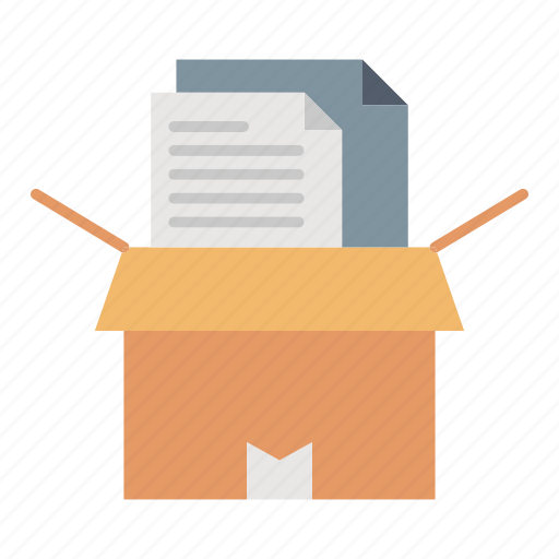 archive, box, files, office, package icon