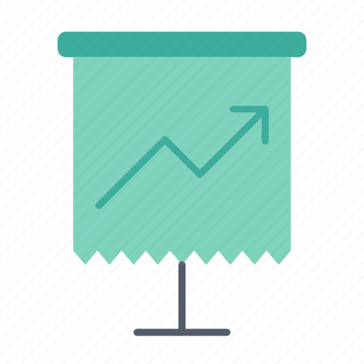 analysis, growth, office, report icon