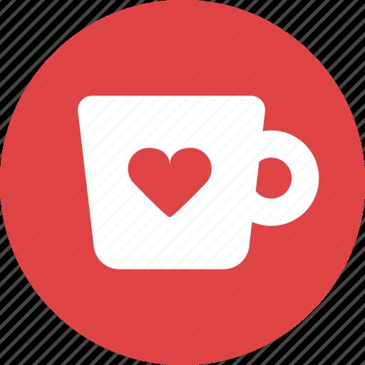 beverage, coffee, cup, heart, mug, tea icon