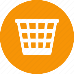 basket, bin, garbage, recycle, trash, waste icon