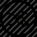 arrows, random, suffle icon
