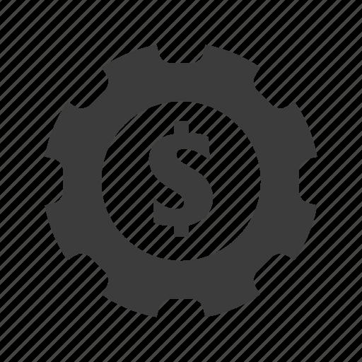 Business, finance, gear, money icon - Download on Iconfinder
