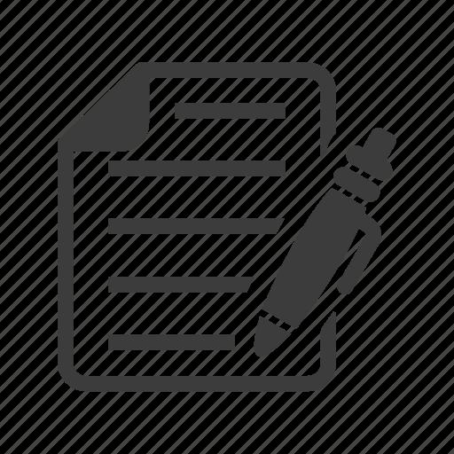 edit, note, pen icon