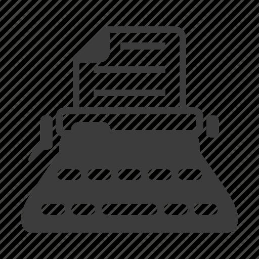 article, machine, typewriter, typing icon