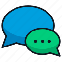 bubble, conversation, message, speak, speech, talk
