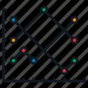 analytics, chart, diagram, graph, line, plot