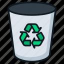 bin, can, delete, empty, recycle, trash icon