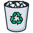 bin, can, delete, full, recycle, trash icon