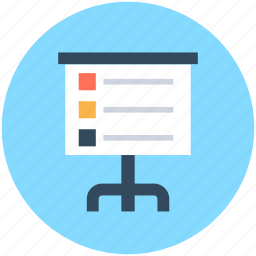 business presentation, chalkboard, easel, presentation board, whiteboard icon