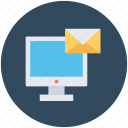 email, inbox, lcd, message, monitor icon