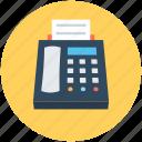 facsimile, facsimile machine, fax, fax machine, telefax icon