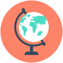 earth, globe, planet, school globe, table globe icon