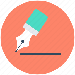 fountain pen, ink pen, pen, stationery, write tool icon