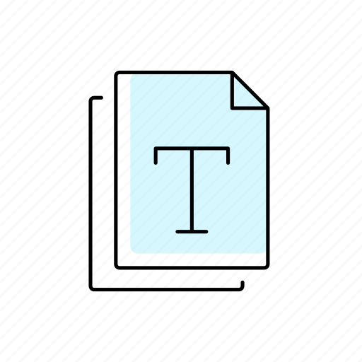 Document, extension, file, font, format, text, type icon - Download on Iconfinder