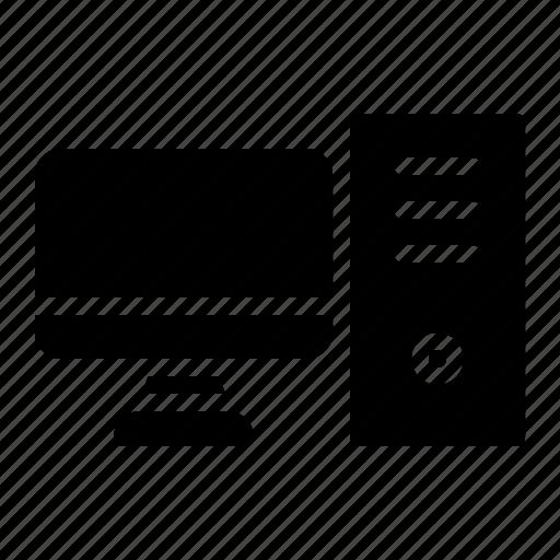 computer, cpu, monitor icon