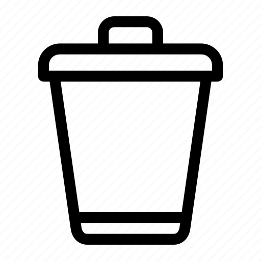 bin, delete, ecology, format, recycle, remove, trash icon