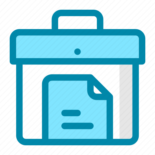 bag, business, document, file, job, office, work icon