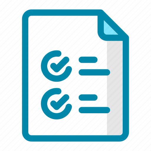 check, checklist, document, file, list, office, success icon