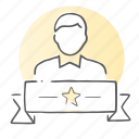 account, employee, profile, staff, user, worker icon