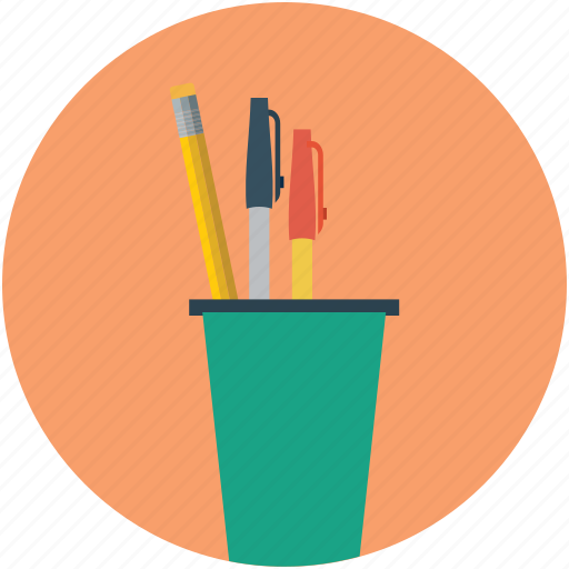 office supplies, writing utensils icon