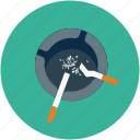 ash tray, cigarette icon