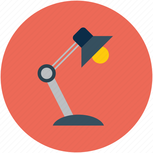 desk lamp, lamp icon
