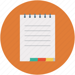 notes, study icon