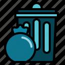 basket, bin, office, trash icon