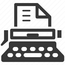 office, typewriter, typing machine icon