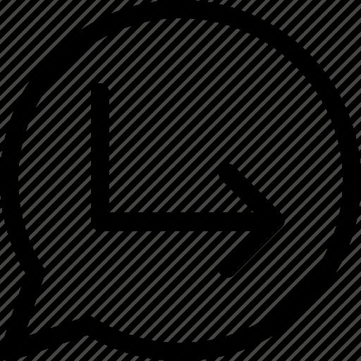 arrow, message, re, repost, resend icon