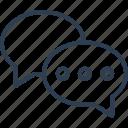 bubbles, chat, comment, messages icon icon