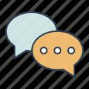 chat, comment, messages icon, • bubbles icon