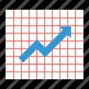 diagram, graph, grid, line chart, line graph, report icon, • chart icon