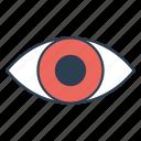 human eye, search, view icon, • eye icon