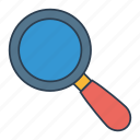 magnify, search, zoom icon, • find icon