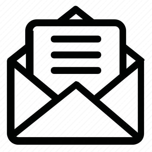 emai, letter, mail, post, text icon